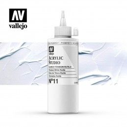 VALLEJO STUDIO BLANCO TITANIO RUTILO 200 ML