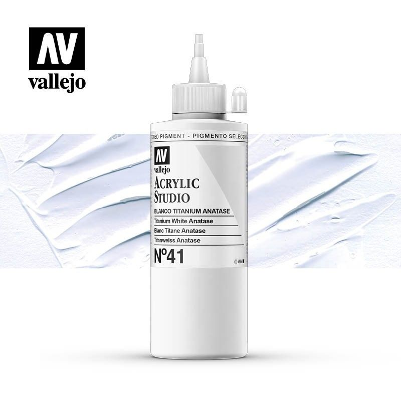 VALLEJO STUDIO BLANCO TITANIO ANATASE 200 ML