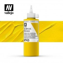 VALLEJO STUDIO AMARILLO CADMIO CLARO 200 ML