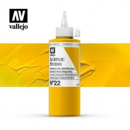 VALLEJO STUDIO AMARILLO CADMIO OSCURO 200 ML