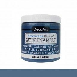 SATIN DECOART ENAMELS AZUL ACERO 236 ML