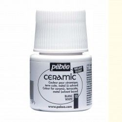 PINTURA CERAMIC PEBEO BLANCO 45 ML