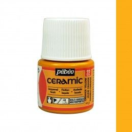 PINTURA CERAMIC PEBEO AMARILLO RICO 45 ML
