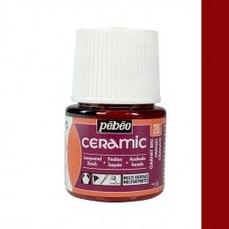 PINTURA CERAMIC PEBEO ROJO CEREZA 45 ML