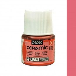 PINTURA CERAMIC PEBEO ROSA 45 ML