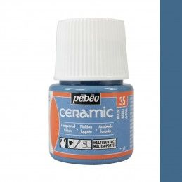 PINTURA CERAMIC PEBEO AZUL 45 ML
