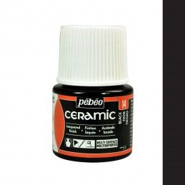 PINTURA CERAMIC PEBEO NEGRO 45 ML