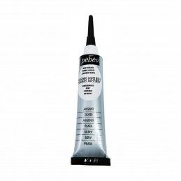 CONTORNO RELIEVE PLATA PEBEO 20 ML