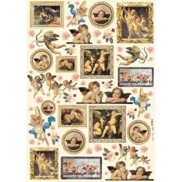 Papel decoupage stamperia nº 032