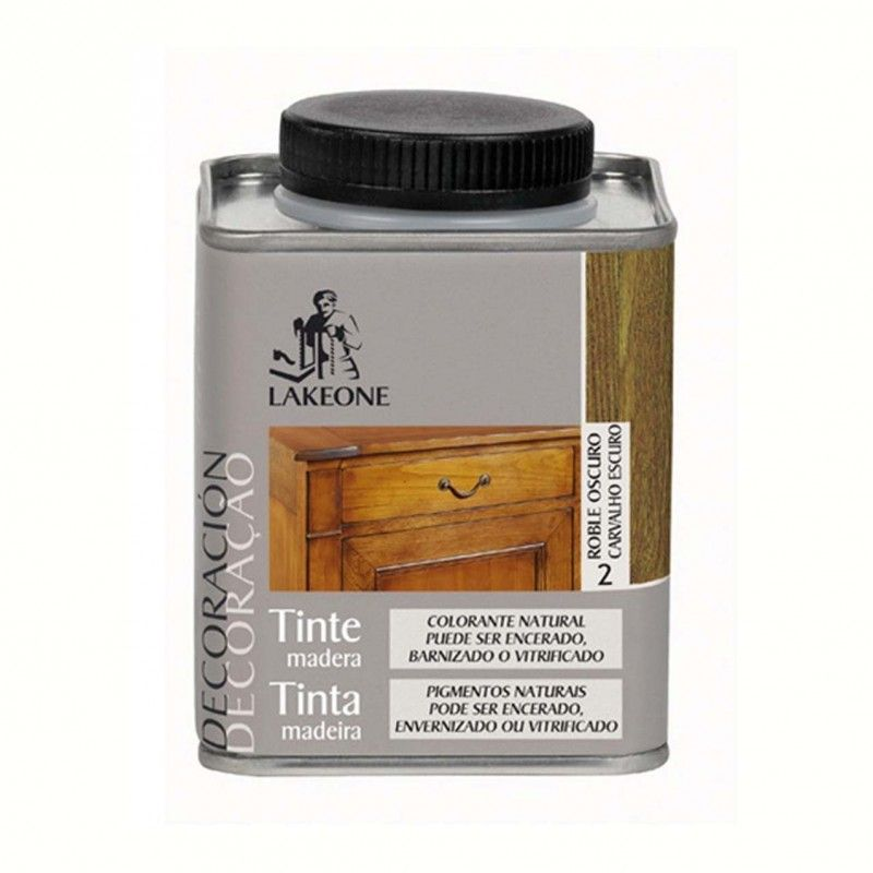 TINTE MADERA ROBLE OSCURO LAKEONE 225ML