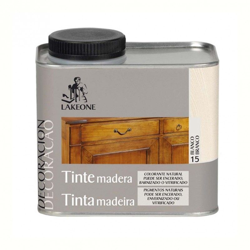 TINTE MADERA LAKEONE BLANCO 450 ML