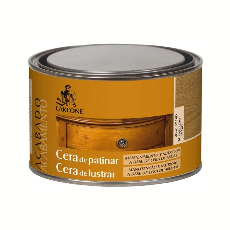 CERA PATINAR LAKEONE 300 ML ROBLE MEDIO