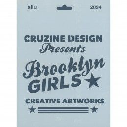 PLANTILLA SILU 2034 BROOKLYN GIRLS 25 x 18 CM