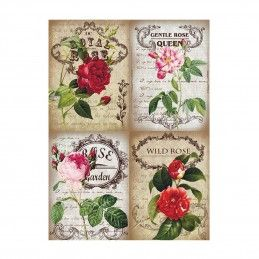 PAPEL DE ARROZ WILD ROSE 30x41 CM