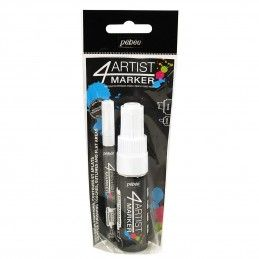 SET DUO BLANCO 4 ARTIST MARKER 2mm y 8mm