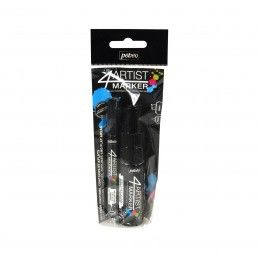 SET DUO NEGRO 4 ARTIST MARKER 2mm y 8mm